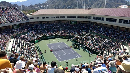 indian wells tennis garden view from stadium 2 - Indian Wells Tennis Garden