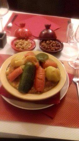 Charleville-Mezieres, Fransa: Couscous végétarien