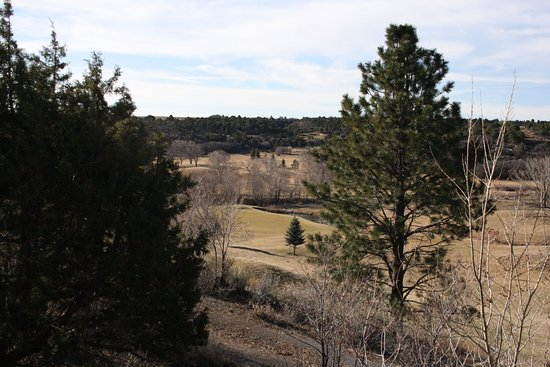Monticello, Γιούτα: Photo from the front deck across two fairways