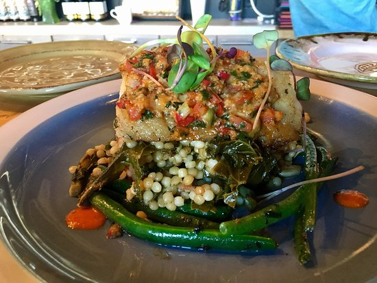 The Nomad Cafe : Peruvian Seabass Special today.  Absolutely incredible