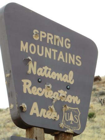Spring Mountains National Recreational Area: Park sign