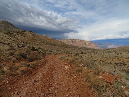 Blue Diamond, NV: View down the road