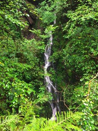 Aberystwyth, UK: Small waterfall by the three bridges