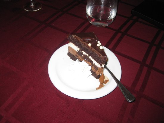 Voyageur Bistro: The chef's choice of dessert which was a deliciously decadent multilayer creamy, chocolate treat