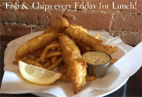 Fort Madison, IA: Fish and Chips every Friday for lunch!