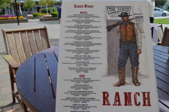 The Ranch Cafe Bar & Grill: Menu