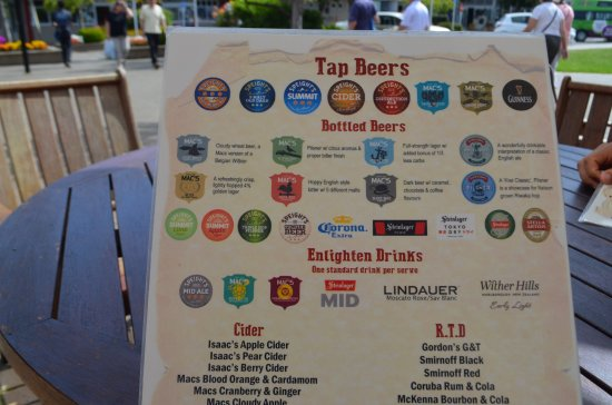 The Ranch Cafe Bar & Grill: Beer List
