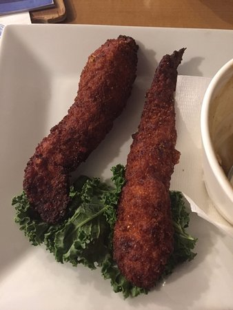Pullman, WA: 2 burnt chicken strips