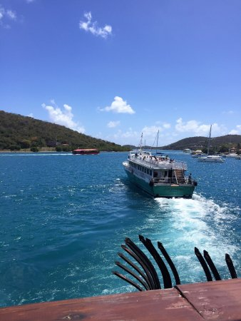 Petite Pump Room Balcony view- Ferry to Tortola