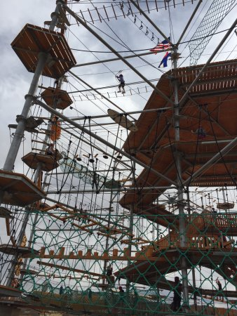 Castle Rock, Colorado: Three stories of creative high ropes challenges!
