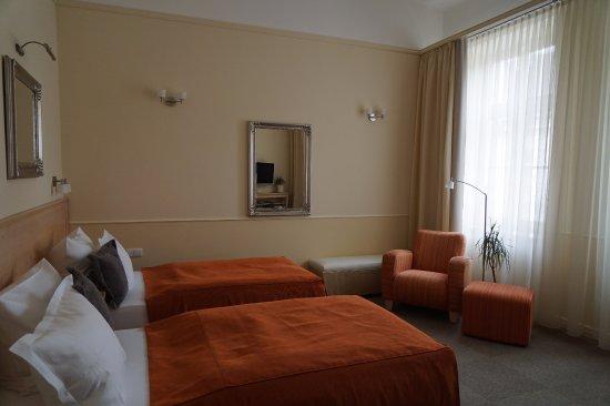 Unitas Hotel: ターンダウン前。