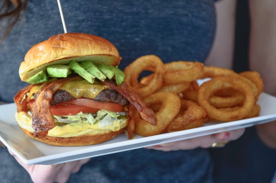 Sumas, WA: Avocado Bacon Burger w/ Onion Rings