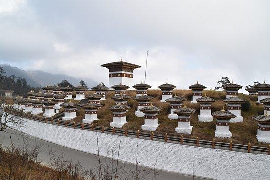 Dochula Pass: 108 religious stupas