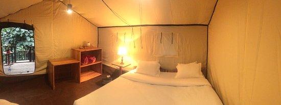 Mangan, India: New machan tent unit at Munlom Nature Resort
