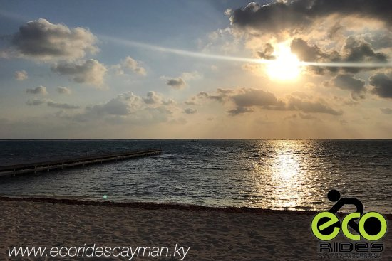 East End, Grand Cayman: Early morning, beautiful day! It's a beautiful view from ECO Rides Cayman. Give thanks!