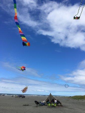 Long Beach, Вашингтон: Great place to fly a kite!