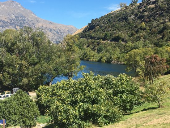 Arrowtown, Nova Zelândia: view from the trail