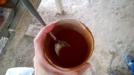 Punta Gorda, Belice: Cacao drink at Eladio Pop's Cacao Farm
