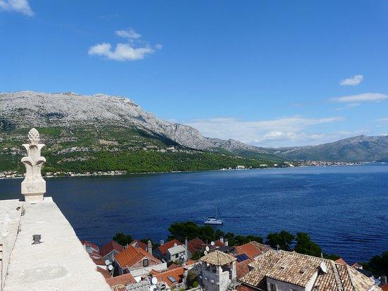 Korcula Town, Croatia: Panorama z Dzwonnicy Katedry św Marka