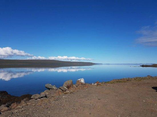 Hvammstangi, Islandia: Nice view from the store