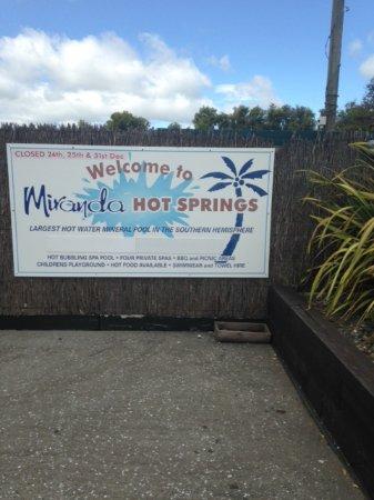 Thames, Neuseeland: Entrance sign