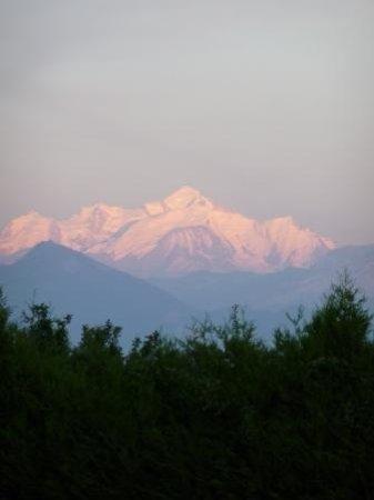 Gex, Francia: Vue sur le Mont Blanc