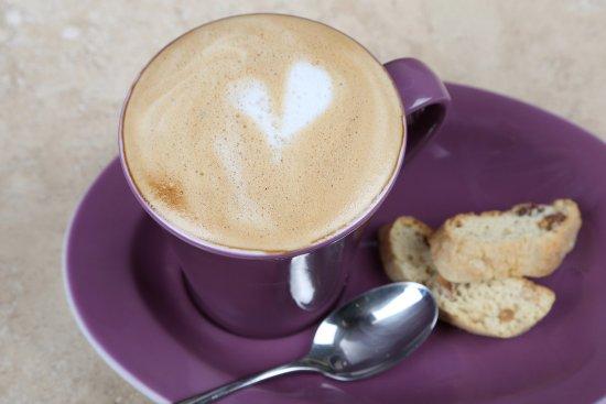 Lavenham, UK: Monmouth Coffee and Handmade Biscotti