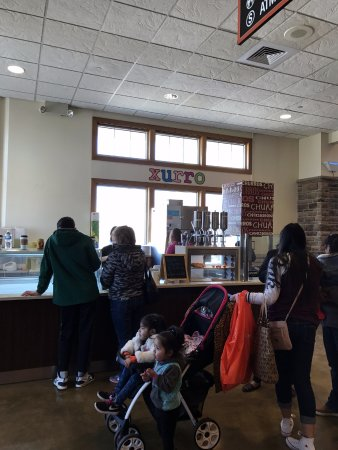 Pleasant Prairie, WI: counter at Xurro - Churro Factory