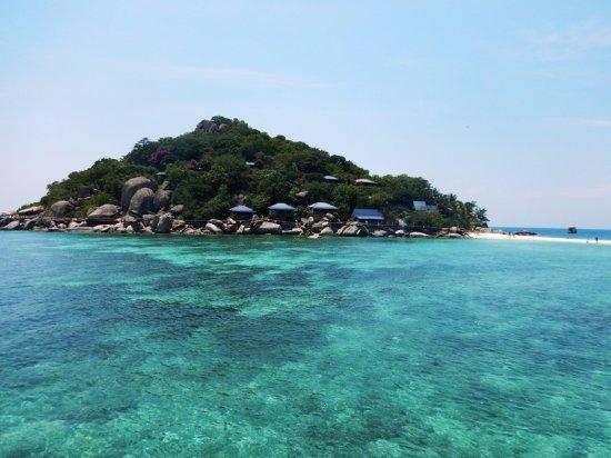 Ko Nang Yuan, Thailand: вид с моря на остров нанг юань