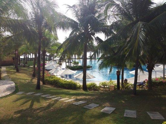 Pandanus Resort: Blick aus dem Bungalow 109