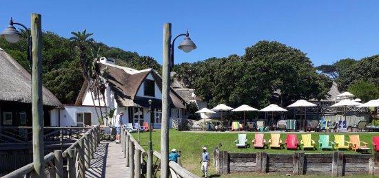 Port St Johns, Afrika Selatan: Hotel reception and swimming pool