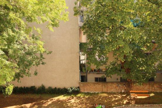 Hotel Am Schottenpoint: Gartenblick vom Zimmer
