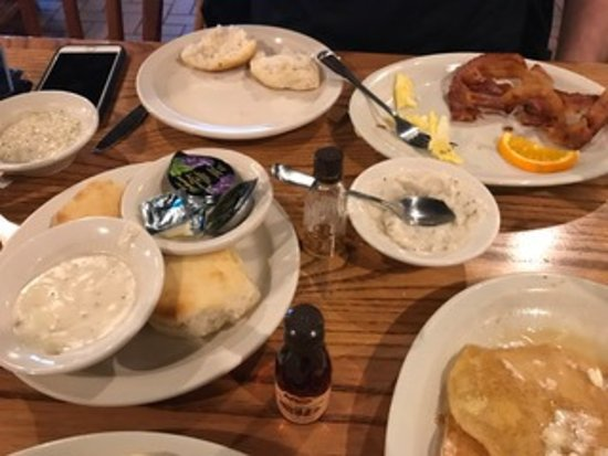 Scottsburg, IN: pancakes, eggs, biscuits and bacon