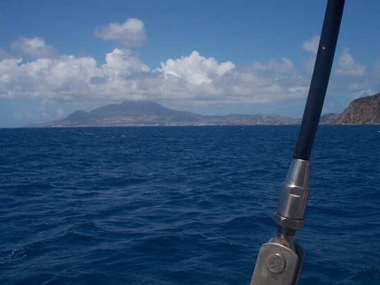 Blue Water Safaris: View of St. Kitts.