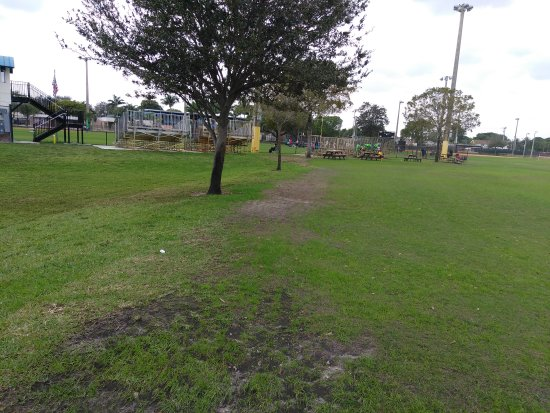 Lauderdale Lakes, FL: Park area, soccer field, playground