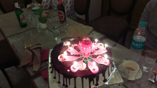 Chef I Birthday Cake Lotus Candle