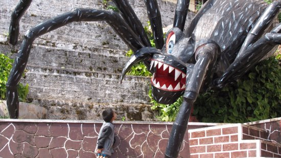 Pindaya Caves - Watch Out - Giant Spider on the Loose