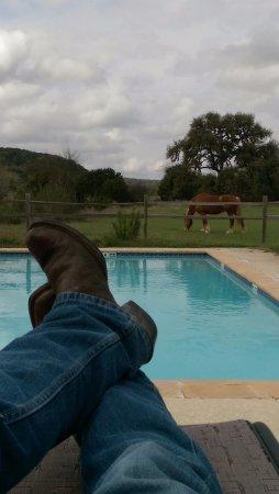 Bandera, TX: Pool time, Cowboy style!