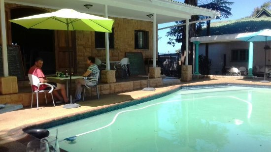 Amanzimtoti, South Africa: View from my table.