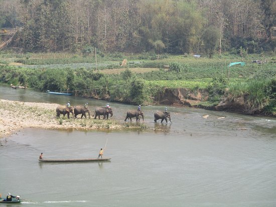 Ban Xieng Lom, Laos: the river view during our lunch