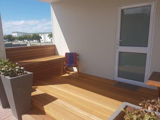 L'Agulhas, Sudáfrica: Unit 5 Studio apartment back patio