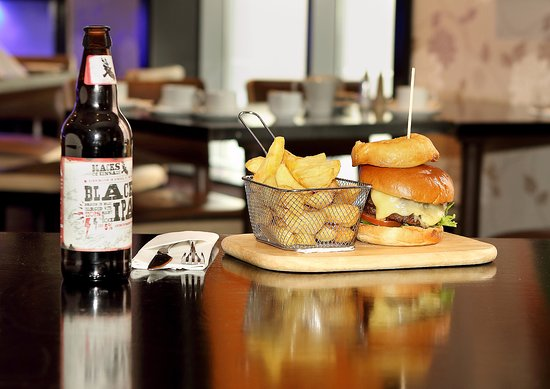 Chez - K's Restaurant: Our Gourmet Burger tastes as good as it looks.