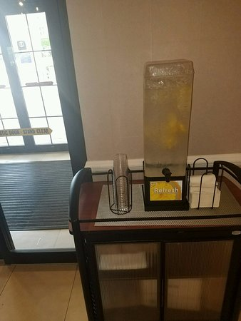 Our Complementary Refresh Lemon Infused Water Station Picture Of