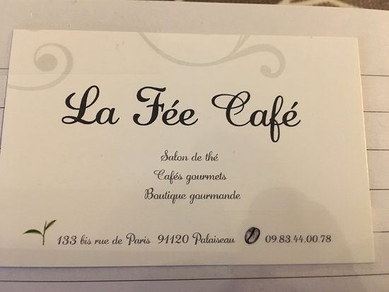 La Fee Cafe Carte De Visite Du Lieu