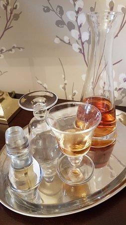 Near Sawrey, UK: Complimentary sherry