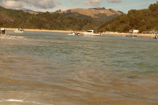 Marahau, Nueva Zelanda: Launching at low tide