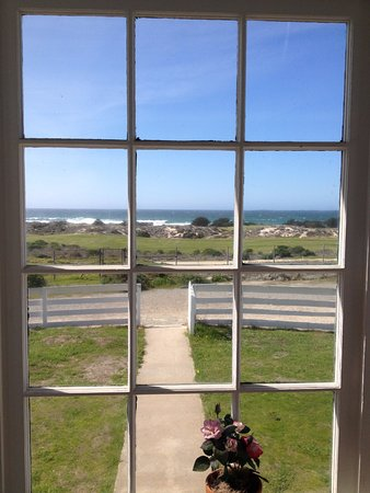Point Pinos Lighthouse: View from the inside upstairs