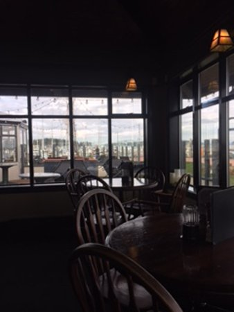 Rumrunner Pub: View of sailboats, harbour and board walk