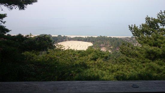 Kanonji, Japão: 作られているのは楕円形。展望台から眺めれば…