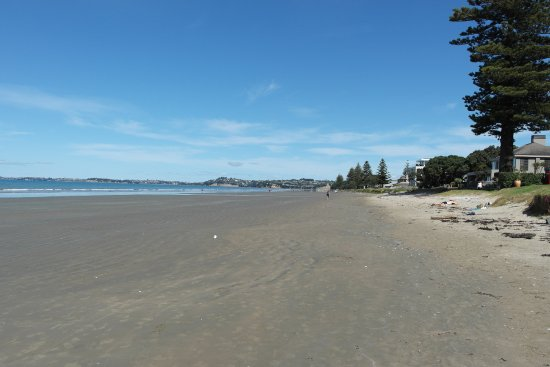 Waves Motel: Orewa beach at low tide